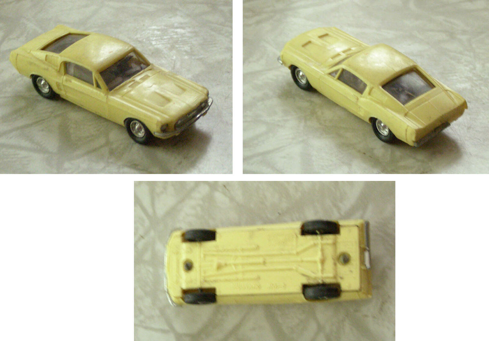 Cream Color Mustang Lindberg Vintage HO Slot Car