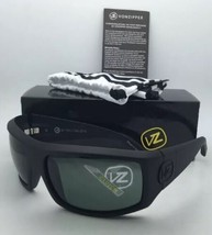 Authentic VONZIPPER Sunglasses VZ CLUTCH Black Satin Frames with Grey Le... - $99.95