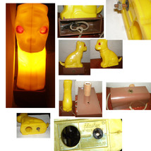 "CREEPY EYES 1950'S ELECTRIC DOG LIGHT- ""FLASHER""- ELECTRIC ANIMALS INC NYC - $49.99"