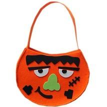 Set of 2 DIY Halloween Kids Pumpkin Bag Trick or Treating Candy Bag,Frankenstein