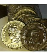 Gem UNC Rouleau (50) Argentine 1959 5 Centavos ~ Liberty Casquette - $41.11