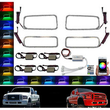 05-07 Ford F-250 Multi-Color Changing Led Rgb Smd Headlight Halo Rings Bluetooth - $199.95