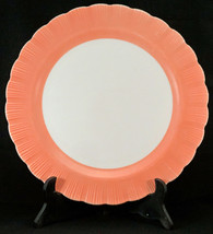 "Vintage Macbeth Evans Cremax Bordette 12"" Pink Chop Plate Cake Plate - $19.99"