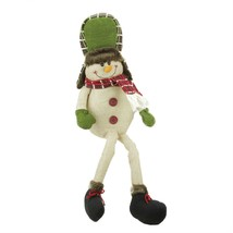 "Gallerie II 25"" Plush Plaid Snowman with Hat Shelf Sitter Christmas Figure - $20.68"