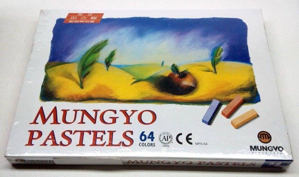 Soft Pastels Chalk 64 Set Assorted Colors Box For Artist Kids Safe Mungyo Bright