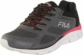 Fila Women's Memory Exolize Running Sneakers US Size 9.5 Castle Black Diva Pink - $81.41 CAD