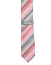 Kenneth Cole Reaction Red Coral 100% Silk Striped Woven Necktie $55 - €6,08 EUR