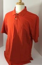 IZOD Men's Heritage Polo Short Sleeve Shirt Orange XL - $6.69