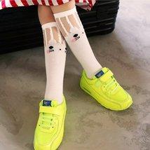 (3)Baby Kids High Knee Socks School Cartoon Cat Lace Solid Stockings Leg... - $16.00