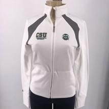 NCAA Colorado Staten Rams Women Jansport Sweatshirt Medium white full zip - $29.95