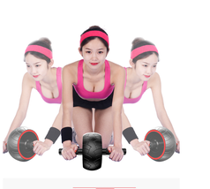 ABS Abdominal Mute Roller Exercise Wheel Core Fitness Muscle Trainer Ab ... - $58.78
