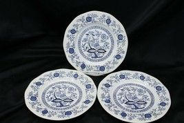 "Enoch Wedgwood Blue Onion Dinner Plates 9.75"" Set of 3 - $22.53"