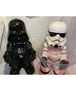 "Star Wars DARTH VADER & Storm Trooper Candy Bowl Holder *missing 1 Bowl Xl 20"" - $44.00"