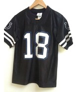 Peyton Manning Colts NFL Team Apparel Black #18 Jersey Youth Large 12-14... - $19.95