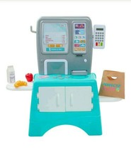 Toy Supermarket Grocery Store Kiosk Pretend Play 11 Piece Set, Perfectly... - $47.52