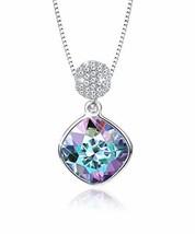 KesaPlan Womens Square Aurora Borealis Crystal Pendant Necklace, Made of - $25.41