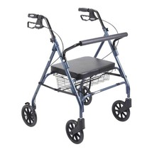 Drive Medical Heavy Duty Bariatric Rollator With Large Seat Blue - $134.61