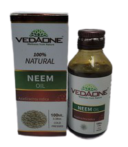 Vedaone 100ml / 3.38oz Neem Oil Cold Pressed 100% Natural Azadirachta In... - $10.00