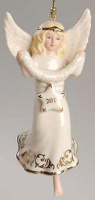 Lenox 2012 Angel Figurine Ornament Annual Stargazer Blonde Christmas NEW IN BOX