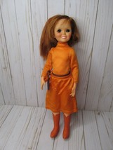 Q Vintage Ideal Crissy Chrissy Doll Clothes Orange Long Dress Panties An... - $49.49