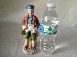 """Vintage Ceramic Man Figurine Male Colonial Historical 7.5""""Tall Home Offi... - $11.57"""