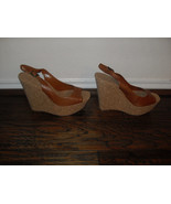 Jessica Simpson Brown Open Toe Heels Wedges   Medium ( B,M )  10 - $44.45