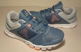 Reebok Size 6 M YOURFLEX TRAINETTE 10 Blue Grey Sneakers New Women's Shoes - $88.11