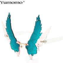 Fashion Oversized personality Wing Shape Sunglasses Women Vintage Rimless Clear  image 7