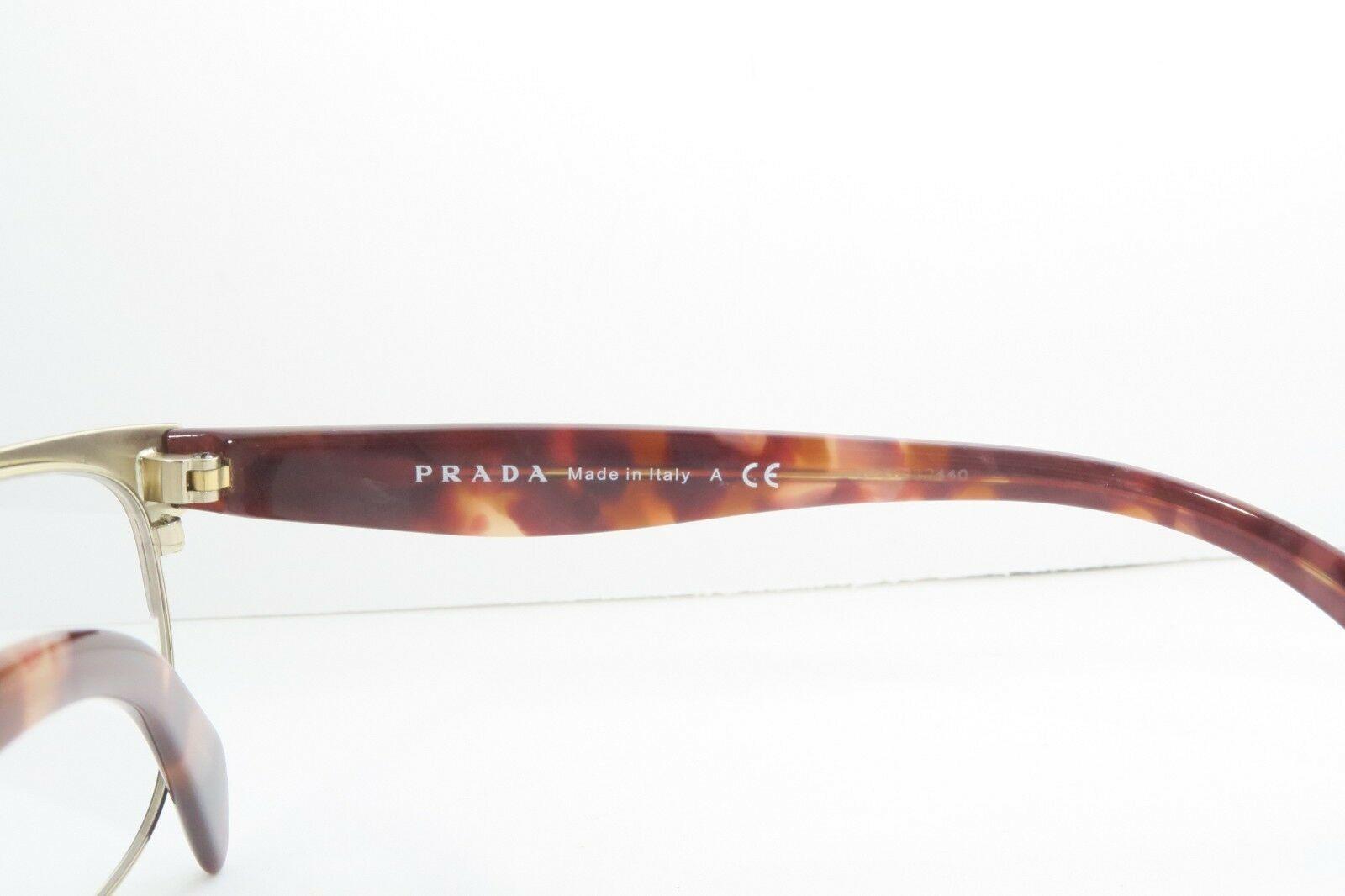 Prada Women's Brown Glasses with case VPR 65R UE0-1O1 53mm
