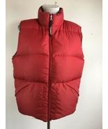 Vintage LL Bean Womens Vest M Black Red Reversible Goose Down Puffer Zip... - $69.29