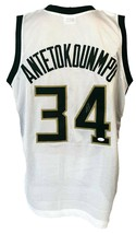 GIANNIS ANTETOKOUNMPO SIGNED PRO SYTLE CUSTOM WHITE JERSEY JSA AUTHENTIC... - $177.21