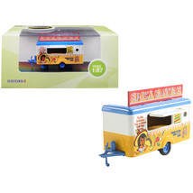 Mobile Food Trailer Spicy Sanitas 1/87 (HO) Scale Diecast Model by Oxfor... - $26.56