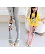 Cute Animal Print Christmas Stockings Girl Kids Deer Tight Long Pantyhos... - $8.99