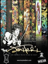 Jimi Hendrix Signature Series Levy's Guitar Straps ad 8 x 11 advertiseme... - $3.95