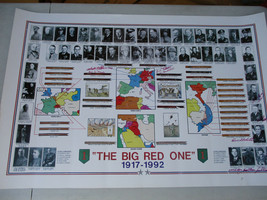 Big Red One US Army 1st Infantry Division Signed Poster Major General MO... - $231.74