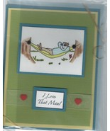 """Father's Day Card-Handcrafted,Handmade;ENVELOPE;CELLOPHANE SLEEVE;4¼"""" x ... - $9.99"""