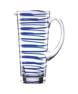 KATE SPADE Charlotte Street Glass Pitcher, 2.3 LB, Blue - $68.99