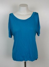 Hurley Womens Short Sleeve Raw Edge Top Size Small - $8.14