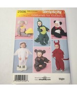 Simplicity 2506 Size 1/2-4 Toddler's Costumes  - $11.64
