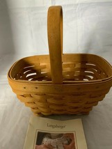 2002 Longaberger Small Comforts Basket with plastic protector - $18.69