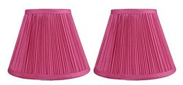 Urbanest Set of 2 Mushroom Pleated Softback Lamp Shades, Faux Silk, 5-in... - $29.69