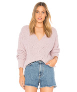 Free People Coco V-Neck Sweater Pullover Light Purple Size Mult Sz - $74.99