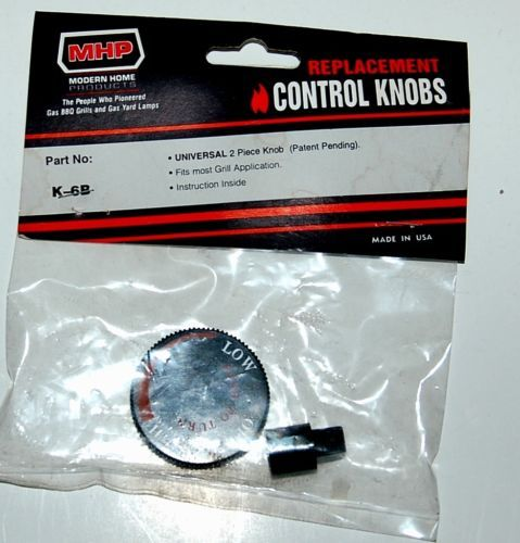 Modern Home Products K6B Replacement Universal Control Knob 2 Piece