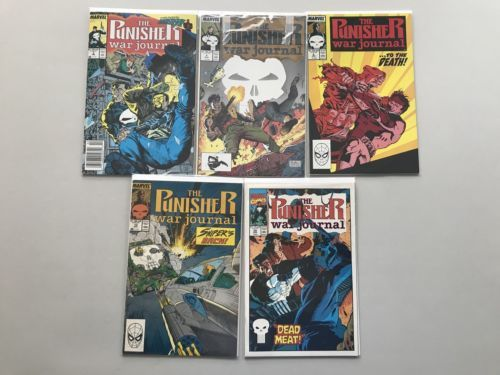 Lot of 10 Punisher War Journal (1988 1st Series) from #3-37 VF Very Fine
