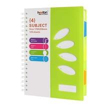 """Heeton B5 Spiral Wirebound Notebook, 4 Subject Divider, 10"""" x 7"""", 240 Pa... - $22.29 CAD"""