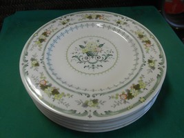 """Beautiful ROYAL DOULTON """"Provencal"""" Made in England Set of 6 DINNER Plates - $84.73"""