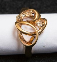 Vintage 18K Gold Plated Costume Jewelry Ring Size 5 tob - $48.50