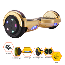"Gold Self balancing Electric scooter LED Wheel Hoverboard Bluetooth 6.5""... - $129.99"