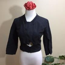 Women's Diesel BLACK GOLD Motorcycle  Assymetrical Jacket Shirt Blazer T... - $68.59