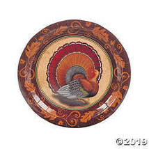 Thanksgiving Turkey Dinner Plates  - $3.35